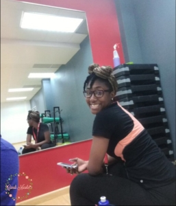 Candi at the gym